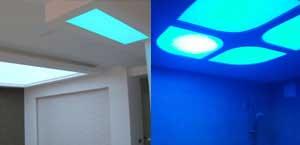 целиком светящийся натяжной потолок