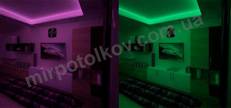 меняем цвет подсветки потолка под настроение