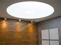 круглый светящийся натяжной потолок