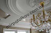 натяжной потолок в интерьере зала
