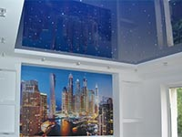 звезды на потолке в гостиной