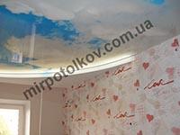 облака с подсветкой за потолком