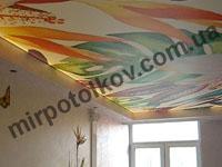 подсветка фотопечати на потолке - зал