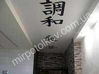фотопечать иероглифов на потолке в коридоре