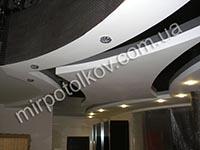 сложная форма потолке в зале