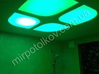 меняющая цвет подсветка потолка