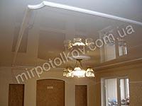 потолочный плинтус на глянцевом потолке