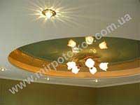салатовый потолок и скрытая подсветка
