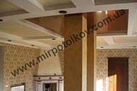 колонны уходящие в натяжной потолок