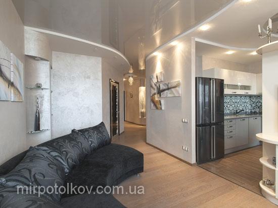 Дизайны натяжных потолков фото зал