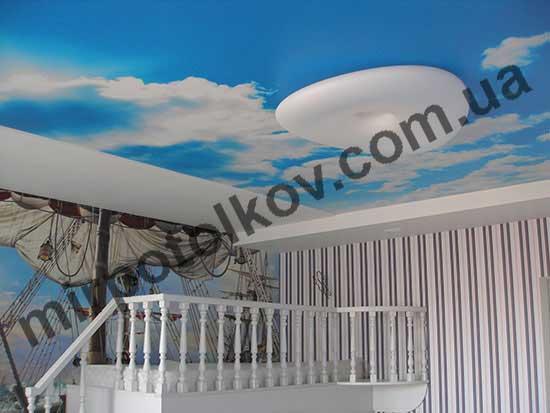 потолок небо в детской комнате