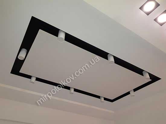Точечные светильники на натяжном потолке. Как правильно выбрать ... | 413x550